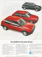 Two golfs for the price of one. print ads 135af8a8 3375 440a a887 c221277f7c52 medium