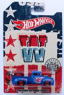 Custom '56 Ford Truck | Model Trucks | HW 2018 - 50th Anniversary - Stars & Stripes Series 05/10 - Custom '56 Ford Truck - Blue - Walmart Exclusive
