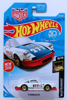 '71 Porsche 911 | Model Racing Cars | HW 2018 - Collector # 235/365 - Nightburnerz 10/10 - New Models - '71 Porsche 911 - White - Blue Hood - Red Base - USA 50th Card with Urban Outlaw Logo