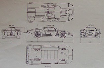 1967 Ford GT40 MKIV | Drawings & Paintings
