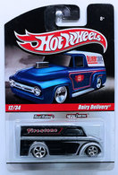 Dairy Delivery | Model Trucks | HW 2010 - Delivery / Slick Rides 12/34 - Dairy Delivery - Silver & Black / Firestone - Metal/Metal & Real Riders