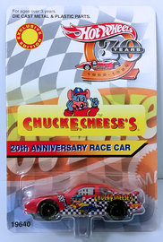 20th Anniversary Race Car | Model Cars | HW 1998 - Chuck E Cheese's Promo # 19640 - 20th Anniversary Race Car - Red