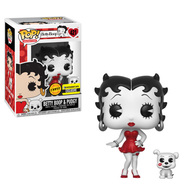 Betty Boop & Pudgy (Black & White) (Red Dress) | Vinyl Art Toys