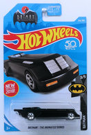 Batman: The Animated Series | Model Cars | HW 2018 - Collector # 256/365 - Batman 3/5 - Batman: The Animated Series (Batmobile) - Black - USA 50th Card