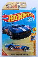 Corvette Grand Sport Roadster | Model Cars | HW 2018 - Collectors # 259/365 - HW 50th Race Team 3/10 - Corvette Grand Sport Roadster - Matte Blue - USA 50th Card