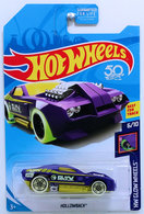 Hollowback | Model Cars | HW 2018 - Treasure Hunts - HW Glow Wheels 6/10 - Hollowback - Purple - USA 50th Card