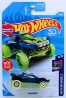 Sandivore | Model Cars | HW 2018 - Collector # 251/365 - HW Glow Wheels 8/10 - Sandivore - Dark Blue - USA 50th Card