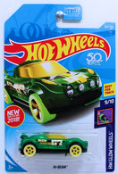 Hi-Beam | Model Cars | HW 2018 - Collector # 252/365 - HW Glow Wheels 9/10 - Hi-Beam - Green - USA 50th Card