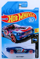 Bullet Proof | Model Cars | HW 2018 - Collector # 249/365 - X-Raycers 6/10 - Bullet Proof - Transparent Blue - USA 50th Card