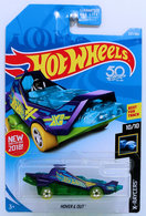 Hover & Out | Model Cars | HW 2018 - Collector # 257/365 - X-Raycers 10/10 - Hover & Out - Purple - USA 50th Card