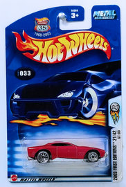 GT-03   Model Cars   HW 2003 - Collector # 033/220 - First Editions # 21/42 - GT-03 - Metallic Red - USA '1968-2003' Anniversary Card