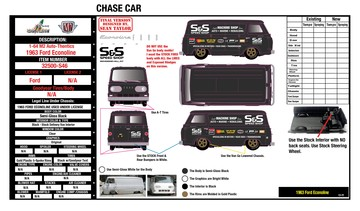 Design E-Sheet for Diecast Hall of Fame 1963 Ford Econoline Chase Version | Manuals & Instructions