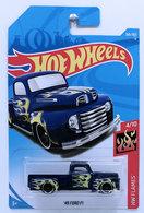 '49 Ford F1 | Model Trucks | HW 2018 - Collector # 266/365 - HW Flames 4/10 - '49 Ford F1 - Metallic Dark Blue - International Long Card
