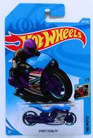 Street Stealth | Model Motorcycles | HW 2018 - Collector # 283/365 - HW Moto 1/5 - Street Stealth - Blue - International Long Card