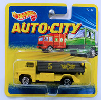 Tipping Lorry | Model Trucks | HW 1995 - Auto City - Tipping Lorry - Yellow - Short Card
