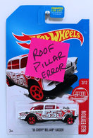 '55 Chevy Bel Air Gasser | Model Racing Cars | HW 2017 - Red Edition 2/12 - '55 Chevy Bel Air Gasser - White - Target Exclusive - Roof Pillar Error