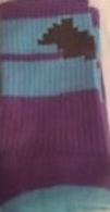 8-Bit Batman Socks (Purple & Blue) | Socks