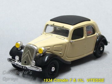 1934 Citroën 7 & 11L | Model Cars