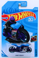 Street Stealth | Model Motorcycles | HW 2018 - Collector # 283/365 - HW Moto 1/5 - Street Stealth - Blue - USA 50th Card