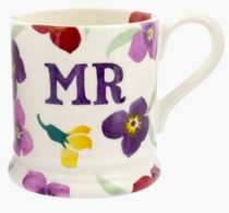 Wallflower Mr 1/2 Pint Mug - Emma Bridgewater | Ceramics | Wallflower Mr Mug