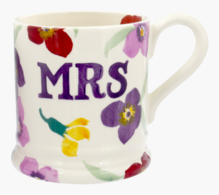 Wallflower Mrs 1/2 Pint Mug - Emma Bridgewater | Ceramics | Wallflower Mrs Mug