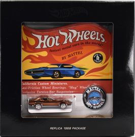 Custom Corvette | Model Cars | Hot Wheels 68 Custom Corvette Spectraflame Brown Replica Packaging