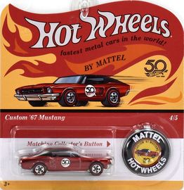 '67 Mustang | Model Cars | Hot Wheels 50th Anniversary Custom 67 Mustang red
