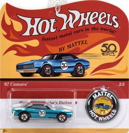 '67 Camaro | Model Cars | Hot Wheels 50th Anniversary Camaro Blue