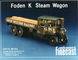"Foden K Steam Wagon | Model Train Kits (Locomotives) | Steam Road Vehicle Kit To Scale of 3/8"" to 1 ft. (1/32nd or Gauge 1)"