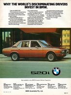 Why The World's Discriminating Drivers Invest In BMW. | Print Ads