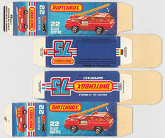 Matchbox Miniatures Picture Box - K Type - Blaze Buster | Collectible Packaging