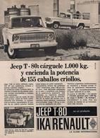 Jeep T-80: Cárguele 1.000 Kg. Y Encienda La Potencia De 155 Caballos Criollos. | Print Ads