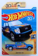2009 Ford F-150 | Model Trucks | HW 2018 - Collector # 287/365 - HW 50th Race Team 4/10 - 2009 Ford F-150 - Matte Blue - USA 50th Card