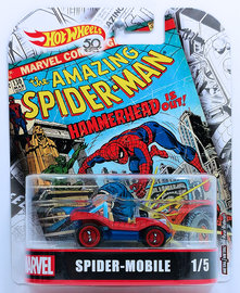 Spider-Mobile | Model Cars | HW 2018 - Replica Entertainment # FLD31 - Spider-Mobile - Red & Blue - Metal/Metal & Real Riders