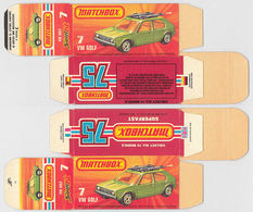 Matchbox Miniatures Picture Box - K Type - VW Golf | Collectible Packaging