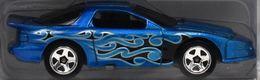'98 Pontiac Firebird | Model Racing Cars | HW Flames 5-pack 98 Pontiac Firebird  blue