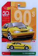 '92 Ford Mustang | Model Cars | HW 2018 - 50th Anniversary / Throwback Collection 6/10 - '92 Ford Mustang - Yellow