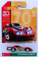 '76 Greenwood Corvette | Model Cars | HW 2018 - 50th Anniversary / Throwback Collection 2/10 - '76 Greenwood Corvette - Red