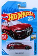 '17 Audi RS 6 Avant   Model Cars   HW 2018 - Super Treasure Hunts - Factory Fresh 5/10 - '17 Audi RS 6 Avant - Spectraflame Red - USA 50th Card