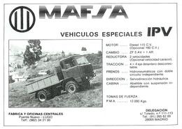 Mafsa Vehículos Especiales IPV | Print Ads