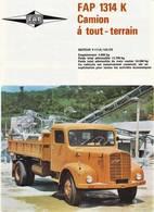 FAP 1314 K Camion Á Tout-Terrain | Print Ads