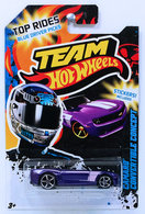 Camaro Convertible Concept | Model Cars | HW 2012 - TEAM Hot Wheels / Top Rides Blue Driver Picks - Camaro Convertible Concept - Purple with OH5SP Wheels - Stickers Included