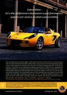 Lotus Elise. It's The Difference Between A Performance Sports Car And A Stylish Convertible. | Print Ads