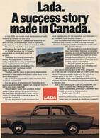 Lada. A Success Story Made In Canada. | Print Ads