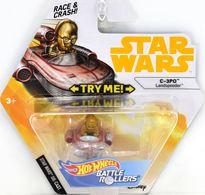 C-3PO (Landspeeder) | Model Spacecraft | Hot Wheels Star Wars Battle Rollers C-3PO Landspeeder