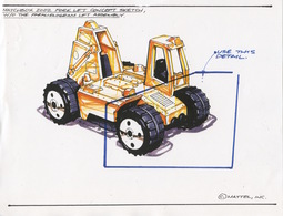 Matchbox 2002 Fork Lift Concept Sketch, w/o Parallelogram Lift Assembly | Drawings & Paintings