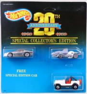 Hot Wheels 20th Anniversary 3-pack | Model Vehicle Sets
