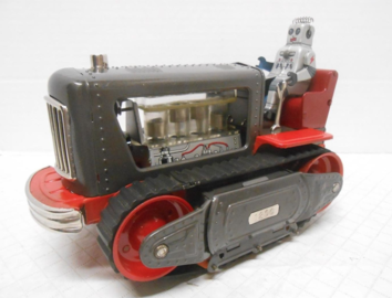 Battery Operated Tractor with Visible Lighted Piston Movement | Tinplate & Pressed Steel Toys