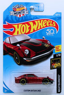 Custom Datsun 240Z | Model Cars | HW 2018 - Collector # 140/365 - Nightburnerz 1/10 - Custom Datsun 240Z - Dark Red - USA 50th & MONTH Card