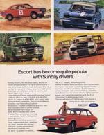 Escort has become quite popular with sunday drivers. print ads 11f87c8f efc4 4dbc acb9 9b7009551a2a medium